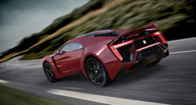 W Motors Lykan Hypersport rear three quarter red