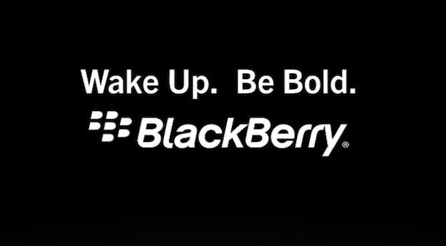 Wake Up Be Bold BlackBerry