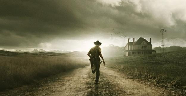 A poster for The Walking Dead on AMC and Netflix