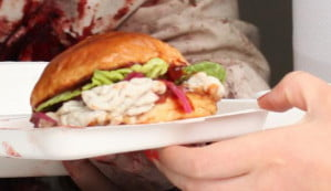 Walking Dead brain burger food truck