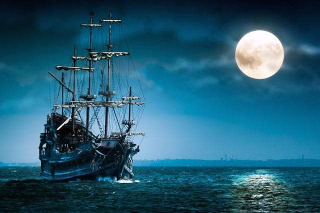 pirate bay announces fake april fools device designed embrace entire mind wallpapermania ship sailing in the moonlight  x