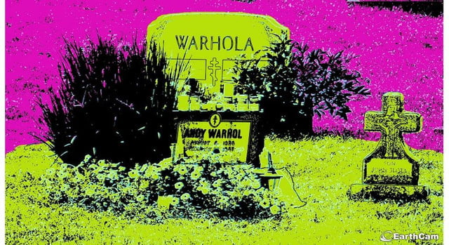 andy warhols grave now live streaming around the clock really warhol earthcam