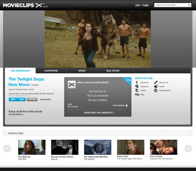 Movieclips.com / New Moon (watch)