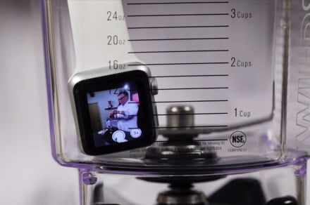 The Apple Watch goes in the blender.