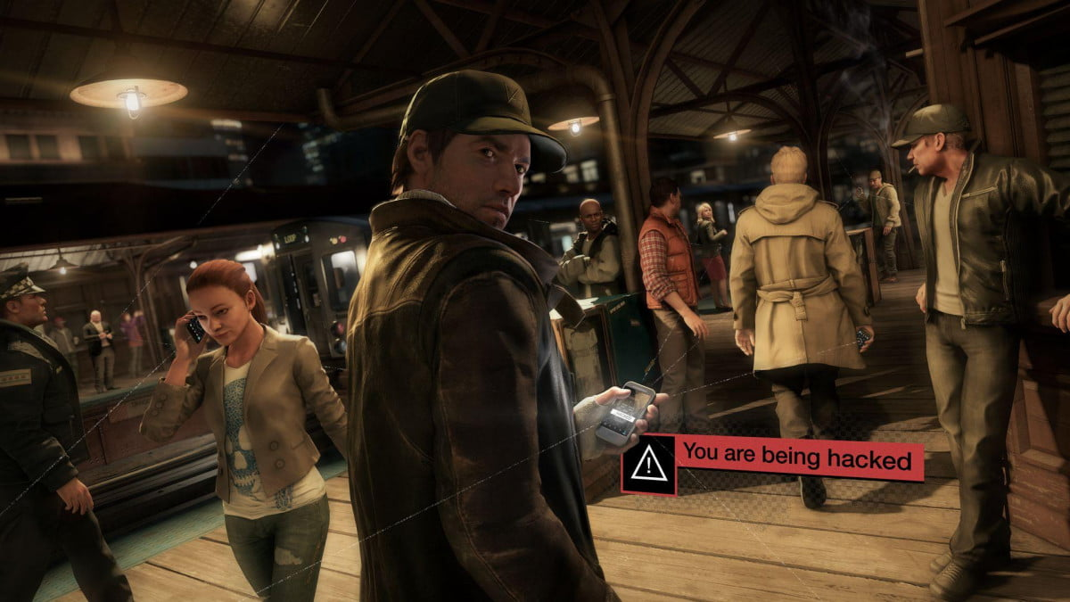 watch dogs  video being hacked