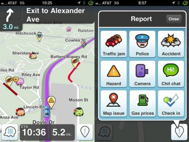 waze iphone app gas gps navigation cars