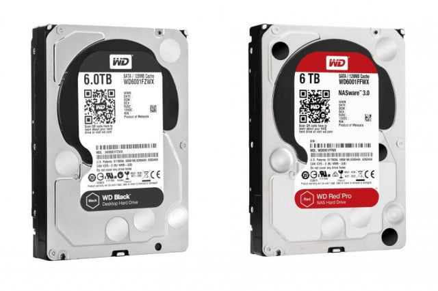 western digital black  tb red pro wdharddrives