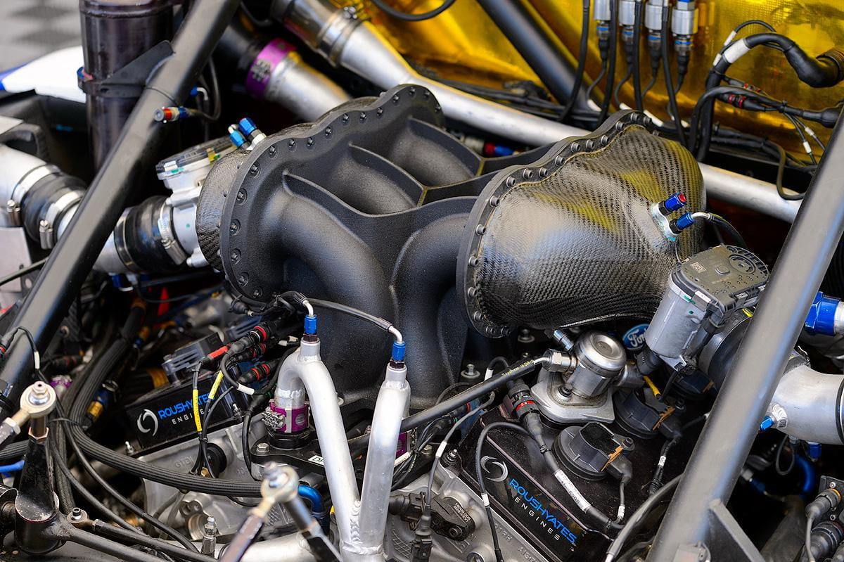ford shows  d printed parts for daytona prototype racers ecoboost engine with intake manifold