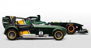 Caterham 7 and Formula 1 car