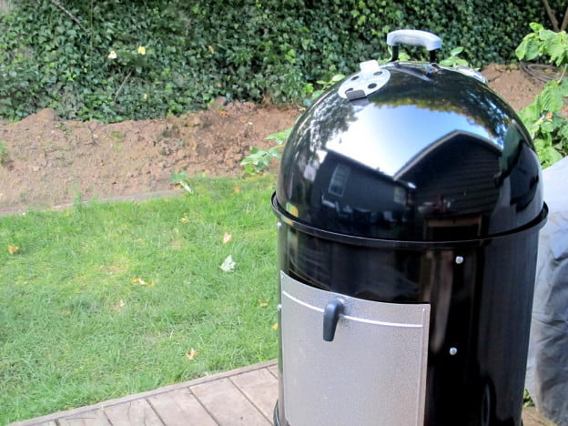 Weber Smokey Mountain Grill review side cooking outdoor barbecue
