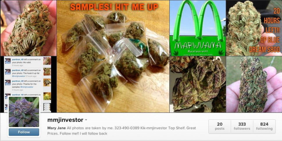 weed dealer instagram
