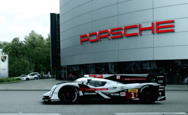 audi welcomes porsche back to le mans with new video welcome