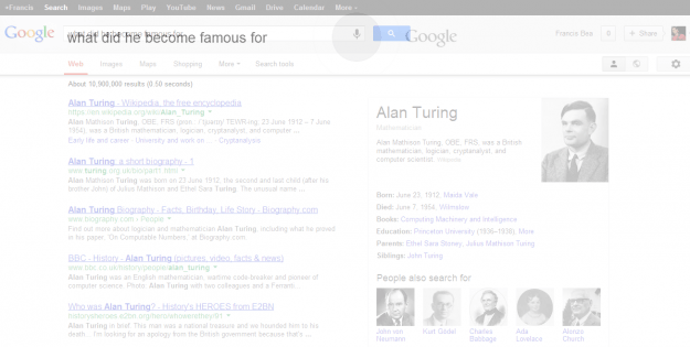 what alan turing became famous for google search