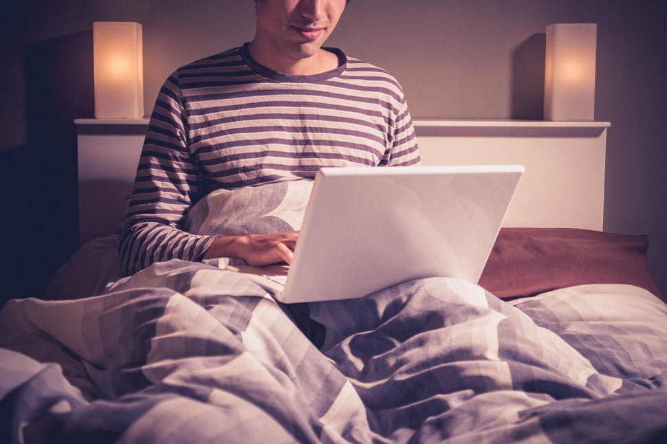 Using Laptop on Bed Laptop Bed