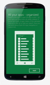 What we want Windows Phone 8.1 app organization concept