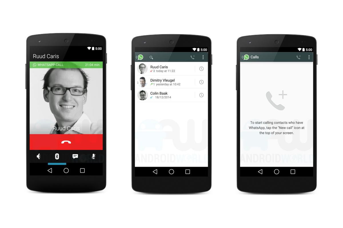 leaked images show first look whatsapp calling