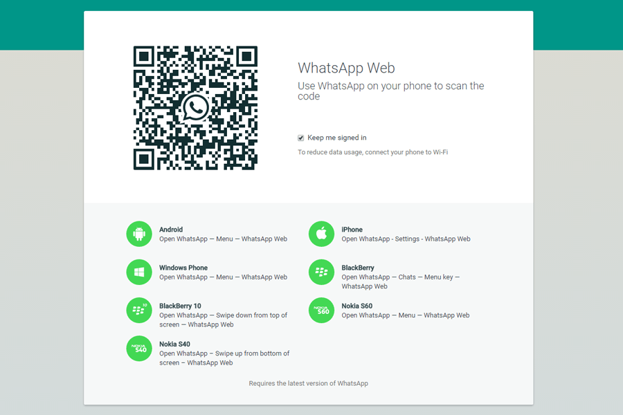 how to connect whatsapp web without qr code
