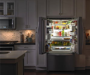 Whirlpool's French-door fridge boasts enough storage to stock a bodega