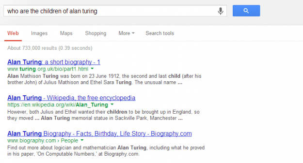 who are the children of alan turing