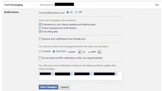 who can send messages via facebook text