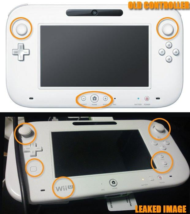 Wii U controller leaked revision with mockup by GamesRadar