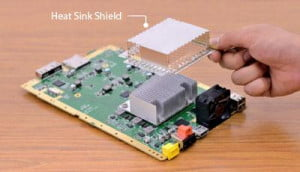 Wii U heat sink and shield