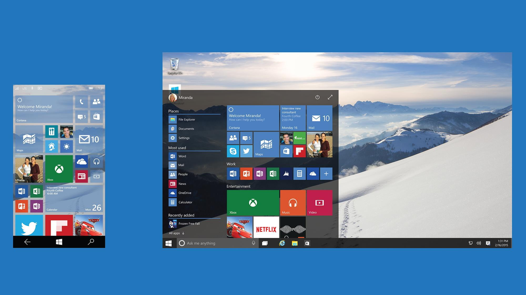 Microsoft moves Windows 10 forward with innovative features.