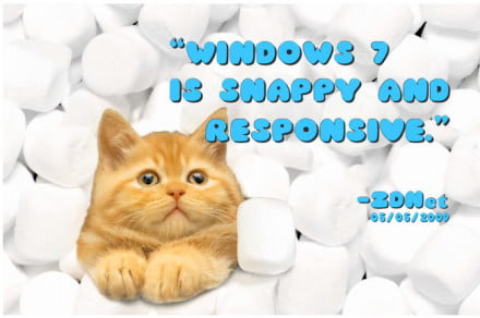 Windows 7 slide show from the ad