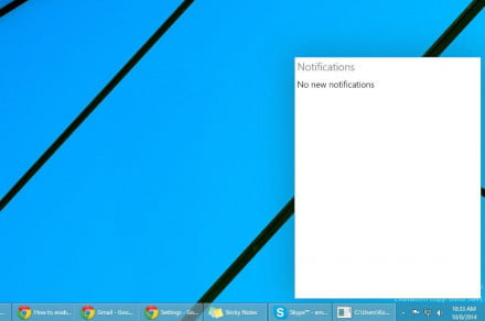 Windows 10 Notifications Center