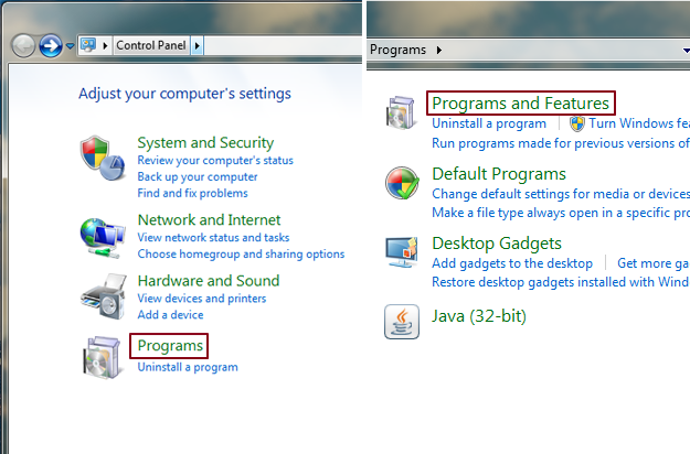 Windows 7 IE Uninstall