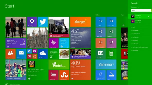 Windows 8.1 update 1 screenshot start