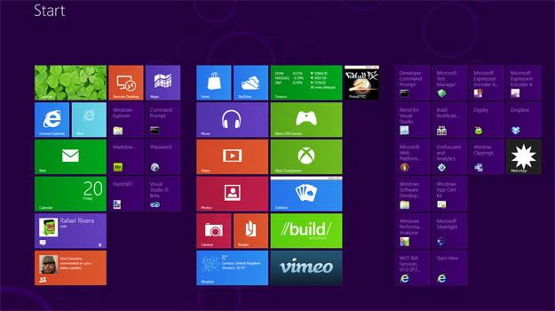 windows 8 homescreen metro modern ui