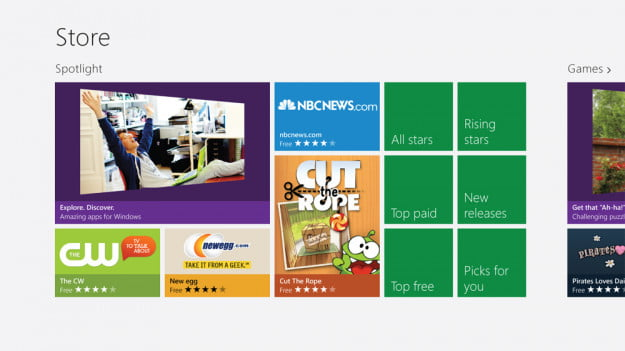 Windows 8 review screenshot store