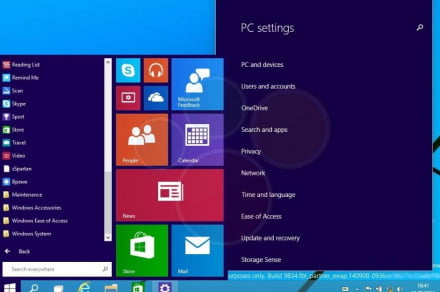 Windows 9 Start Menu Video Leak