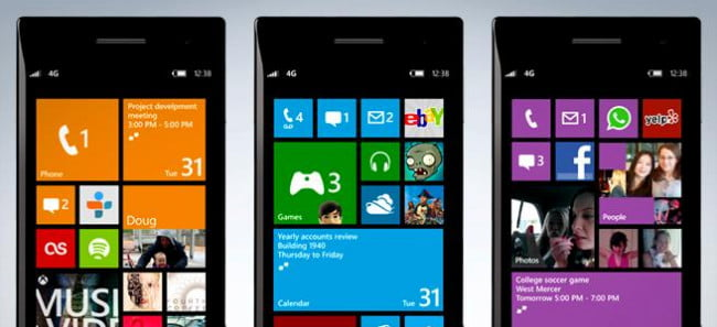 Windows Phone 8 home screens