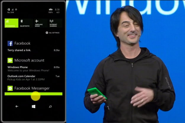Windows Phone 81 Action Center