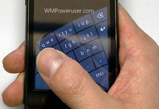 Windows Phone curved keyboard