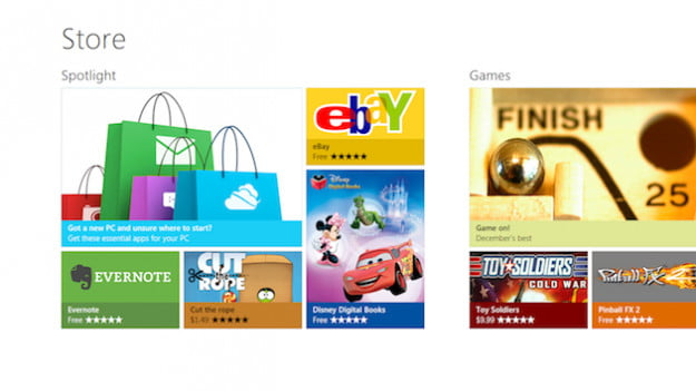 Windows Store Main Page