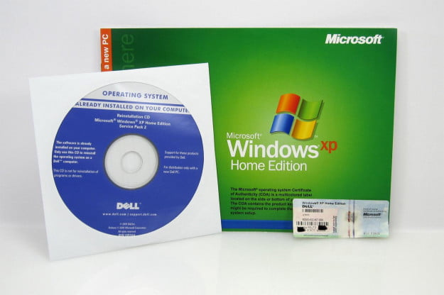 windows xp install disc