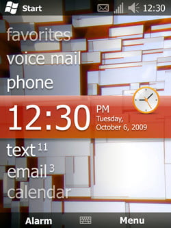 Windows Mobile 6.5 Interface