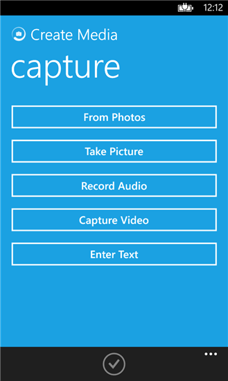 WindUp can send messages in text, picture, video, or even audio form.