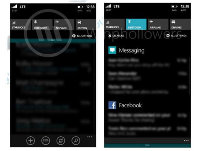 windows phone  notification center appears leaked screenshots winphone