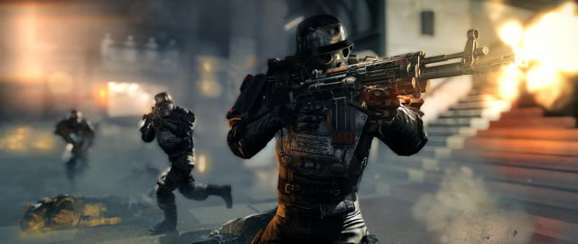 wolfenstein new order marches may doom beta tow  the main hall