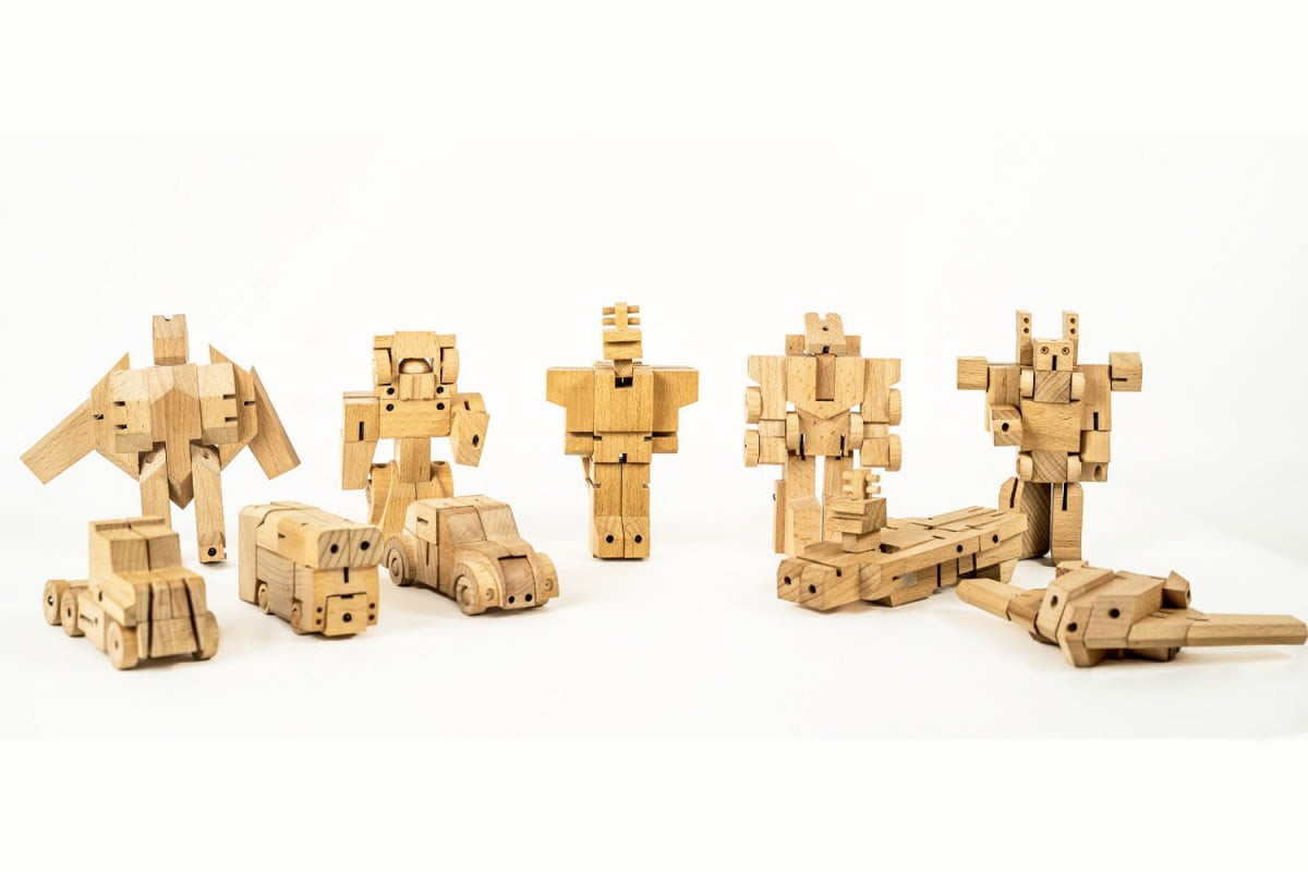 woobots wooden transformers