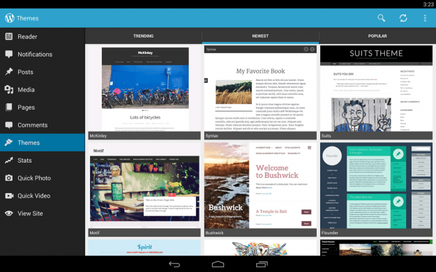 WordPress_Android_tablet_app_screenshot