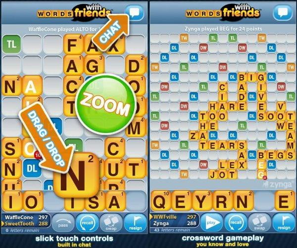 words with friends free screenshot scrabble kindle fire game app