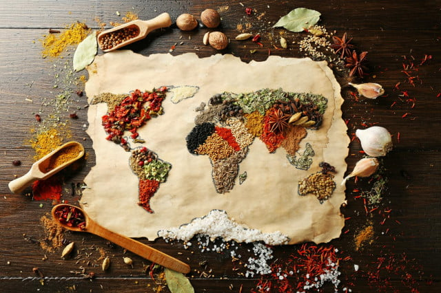 home cooking worldwide survey world map made of food