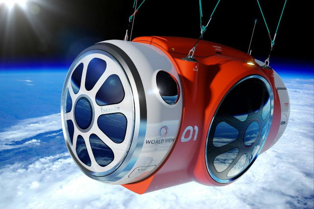 space tourism balloon passes first test service set lift  world view