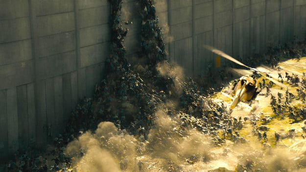World War Z special effects wall