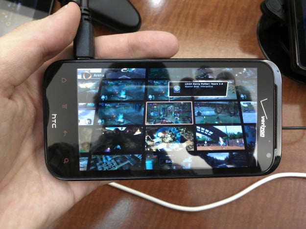 OnLive running on an HTC Rezound